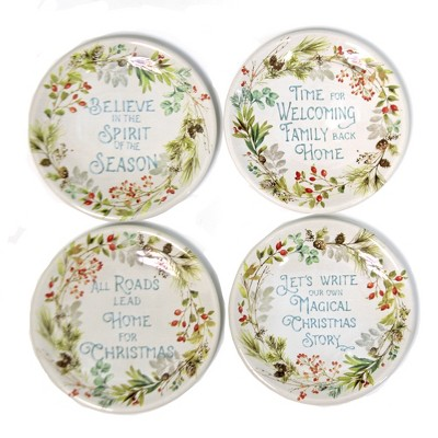 """Tabletop 6.25"""" Christmas Story Canape Set/4 Canape Plates Certified International  -  Dining Plates"""
