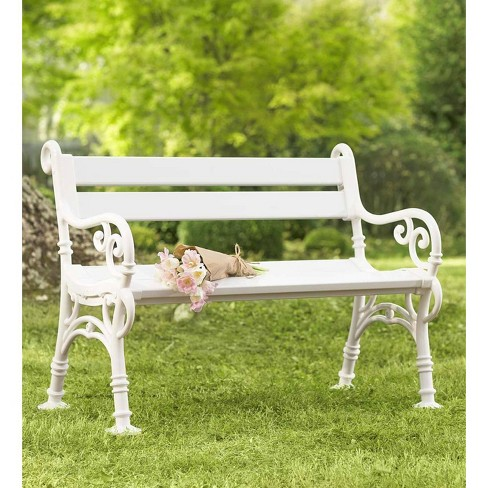 Weatherproof Pvc Outdoor Garden Bench With Scroll Arms Plow Hearth Target