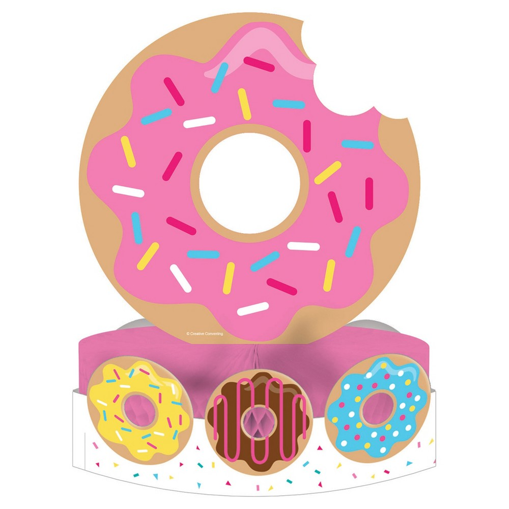Donut Time Centerpiece, Party Decorations and Accessories