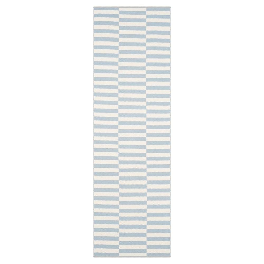Juliette Flatweave Runner - Ivory / Light Blue (Ivory/Light Blue) (2' 3 X 7') - Safavieh