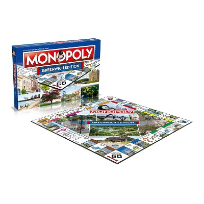 Top Trumps Monopoly Greenwich Edition Family Board Game | 2-6 Players