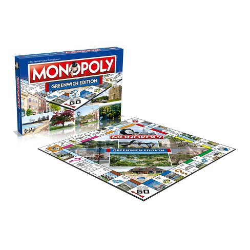 Top Trumps Monopoly Greenwich Edition Family Board Game | 2-6 Players - image 1 of 3