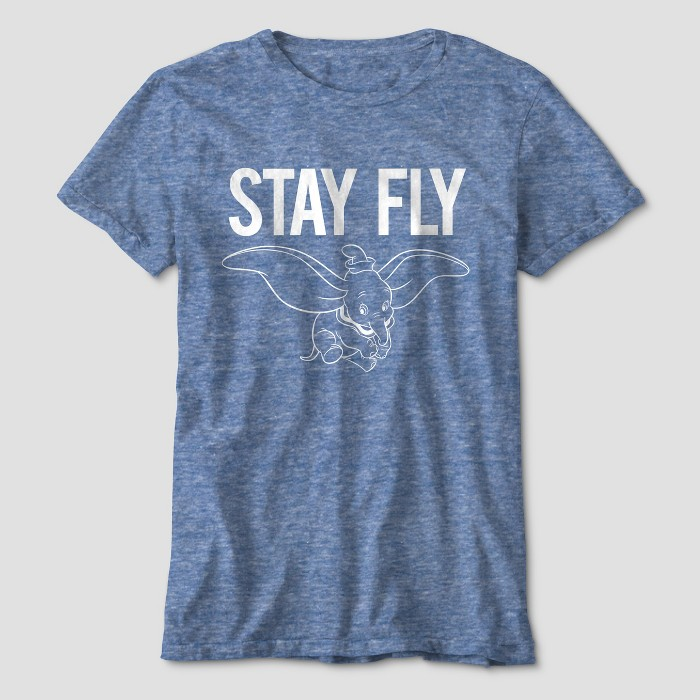 Boys' Dumbo Stay Fly Short Sleeve Graphic T-Shirt - Blue Heather - image 1 of 1
