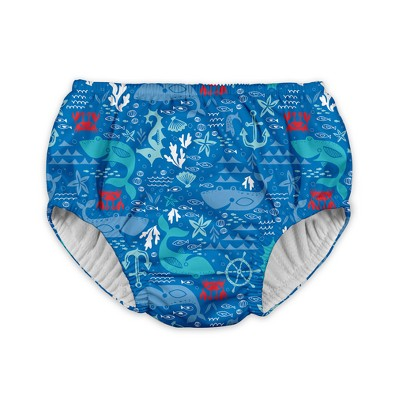 Baby Boys' Starfish Reusable Swim Diaper - Blue 12M - i play.