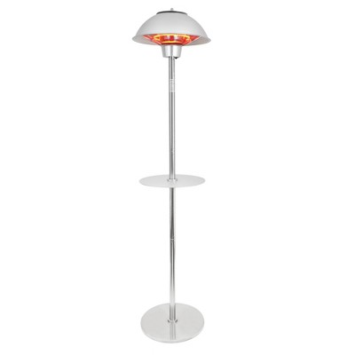 1500W Electric Infrared Stainless Steel Patio Heater with Table - Permasteel