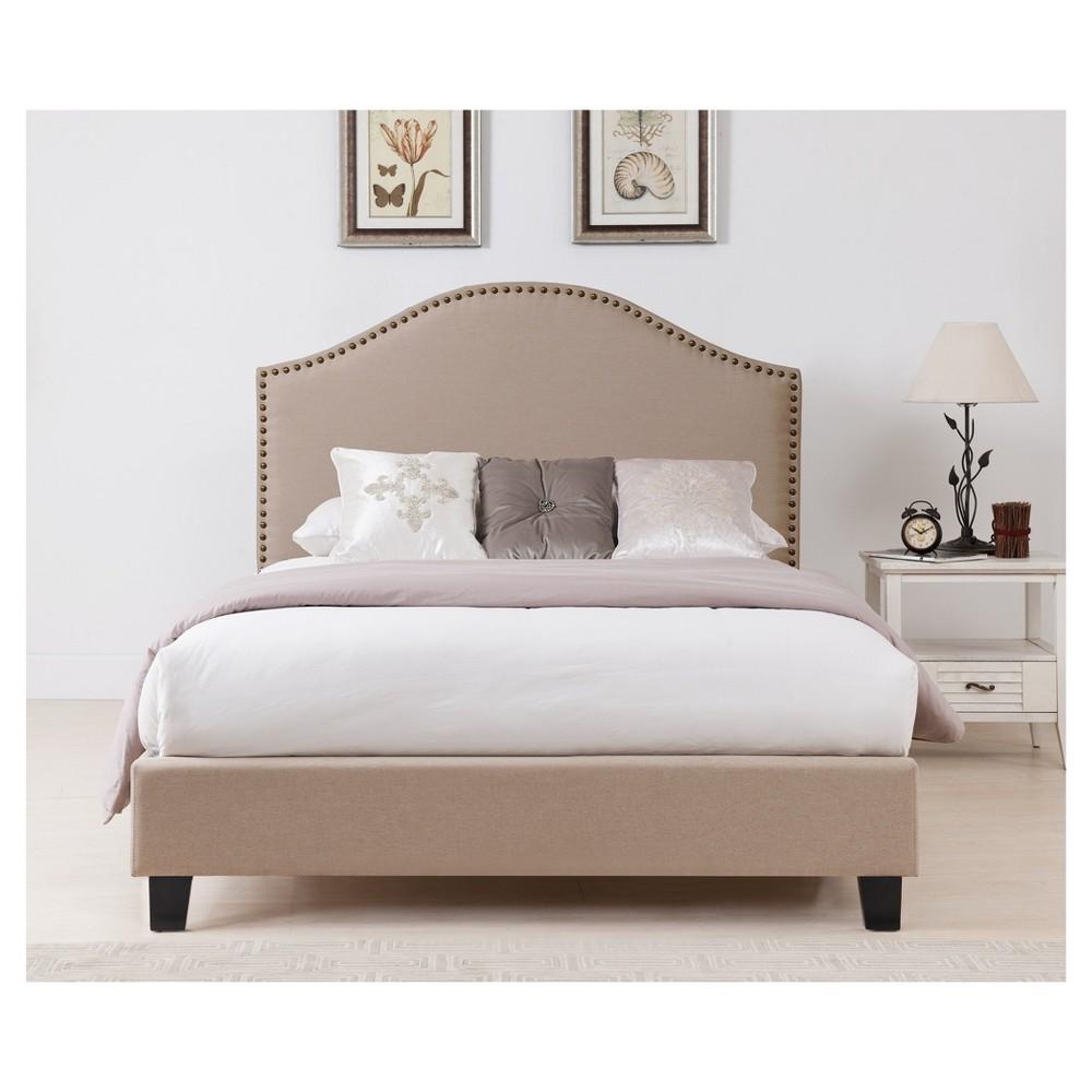 Beverly Queen Bed Headboard Set Beige - Boraam