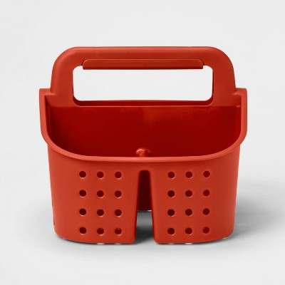 Plastic Shower Caddy Red - Room Essentials™