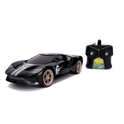 Jada Toys Big Time Muscle RC 2017 Ford GT Remote Control Vehicle 1:16 Scale Glossy Black