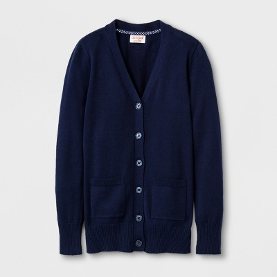 Girls' Uniform Cardigan - Cat & Jack™ Navy