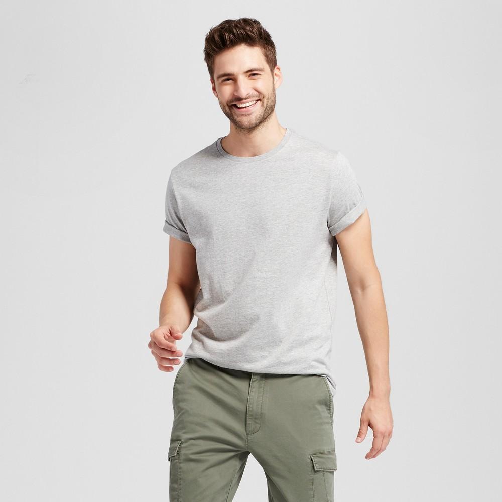 Men's Standard Fit Crew T-Shirt - Goodfellow & Co Gray S