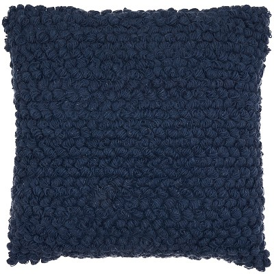 Thin Group Loops Oversize Square Throw Pillow Navy - Mina Victory