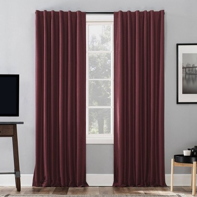 Evelina Faux Dupioni Silk Thermal Extreme 100% Blackout Back Tab Curtain Panel - Sun Zero
