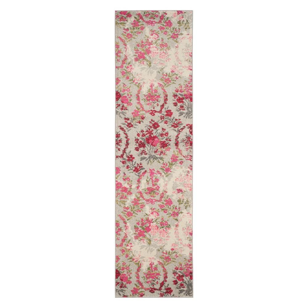 Floral Runner Ivory/Pink