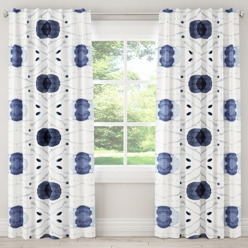 Blackout Curtain Delray Blue - Cloth & Co. - image 1 of 6