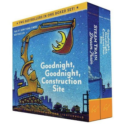 Goodnight, Goodnight, Construction Site and Steam Train, Dream Train Board Books Boxed Set (Board Books for Babies, Preschool Books, Picture Books