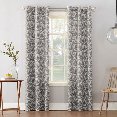 Sun Zero Clarke Geometric Print Textured Thermal Insulated Grommet Curtain Panel - image 1 of 4