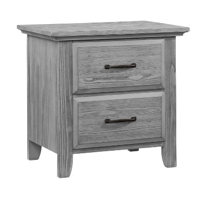 Oxford Baby Willowbrook 2-Drawer Nightstand - Graphite Gray
