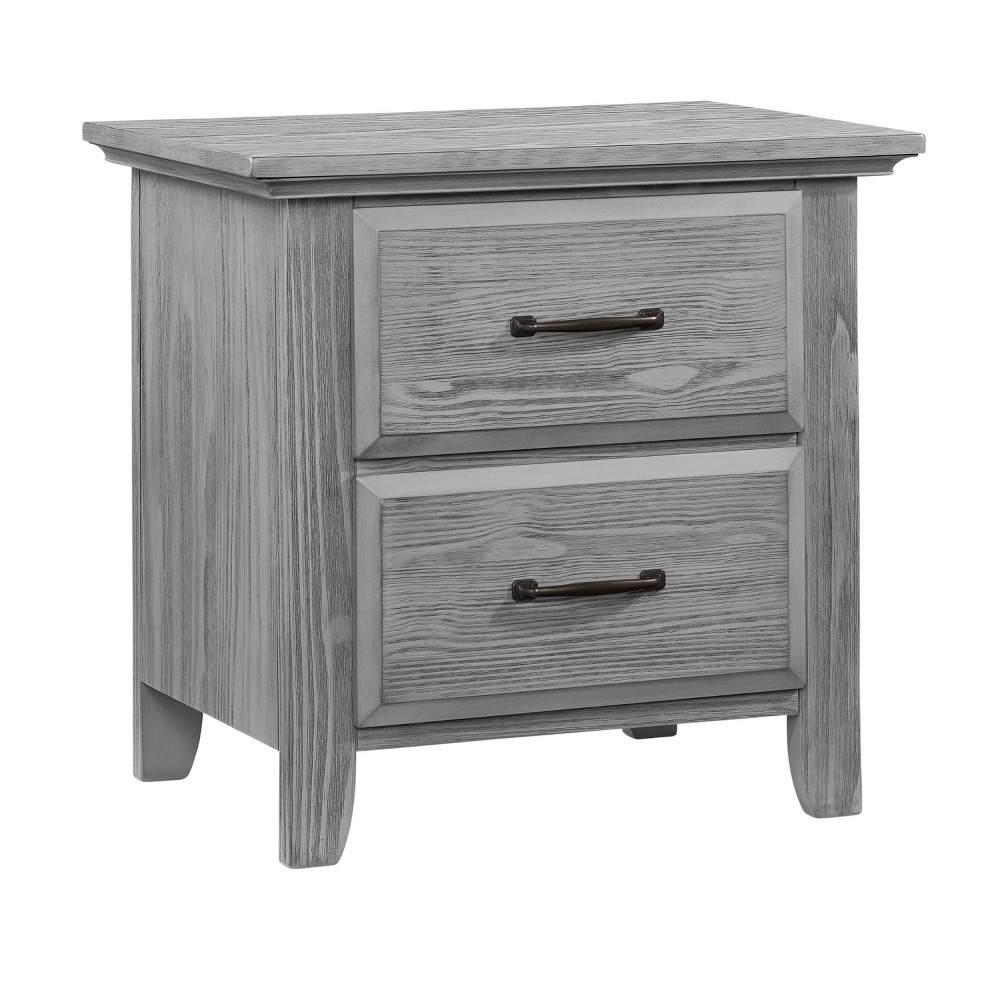 Promos Oxford Baby Willowbrook 2-Drawer Nightstand - Graphite