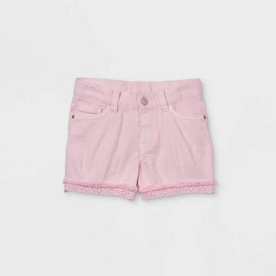 Toddler Girls' Lace Jean Shorts - Cat & Jack™ Pink