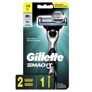 Gillette Mach3 Mens Razor - 1 Handle + 2 Refills
