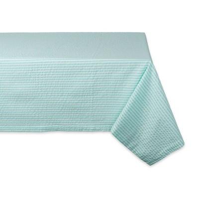 84 X60  Seersucker Tablecloth Aqua - Design Imports