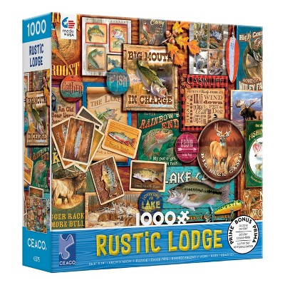 Ceaco Rustic Lodge: Big Mouth in Charge Jigsaw Puzzle - 1000pc