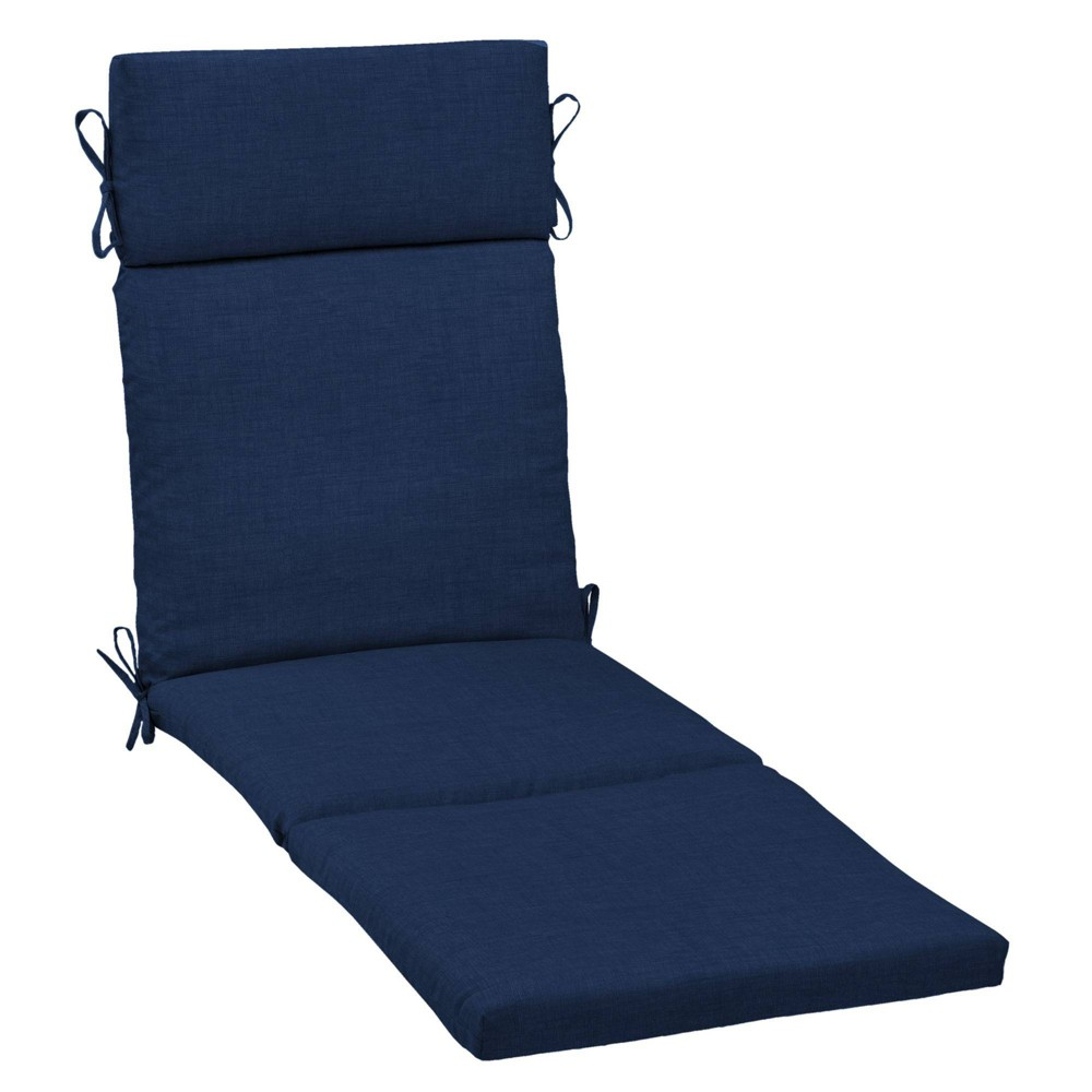 Arden Selections 29 5 34 X 21 34 Leala Texture Outdoor Chaise Lounge Cushion Sapphire