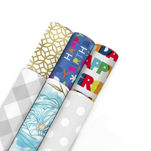 6pk 180 sq ft All Occasions Printed Gift Wraps - Hallmark - image 1 of 7