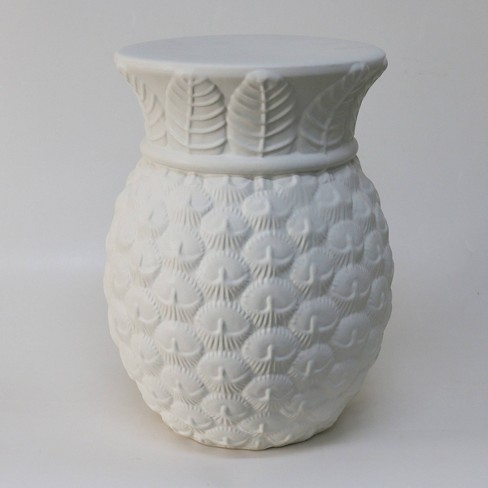 Pineapple Indoor/Outdoor Accent Table - White - Opalhouse™ - image 1 of 5