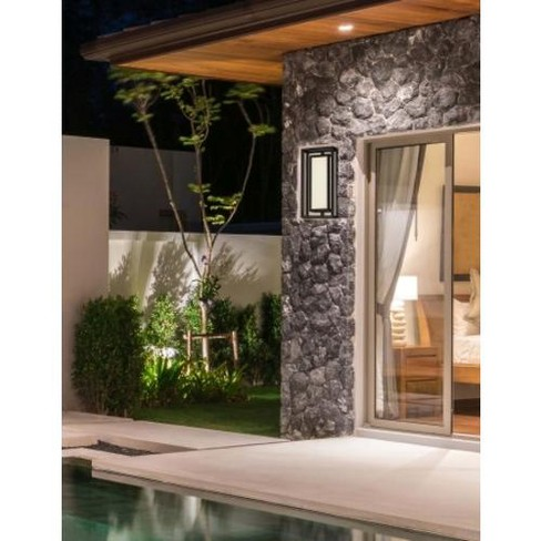 "Justice Design Group FSN-7624W-OPAL Bayview 18"" Tall LED Outdoor Wall Sconce - - image 1 of 1"