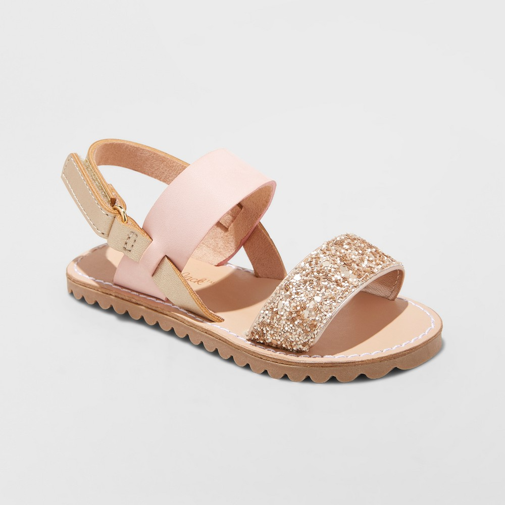 Toddler Girls' Kenleigh Two Piece Slide Sandals - Cat & Jack Pink 5