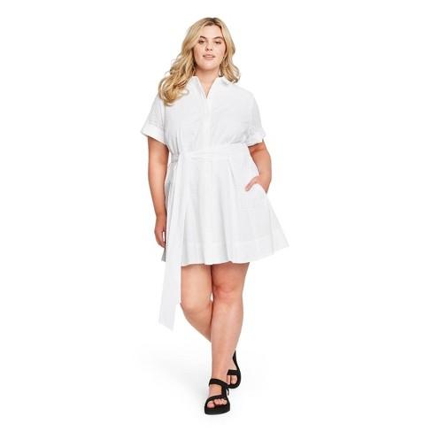 Women's Eyelet Shirtdress - Lisa Marie Fernandez for Target (Regular & Plus) White - image 1 of 4