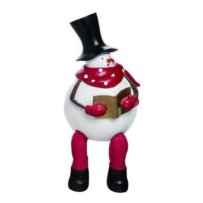 Transpac Resin 9 In White Christmas Frosty Shelf Sitter Target