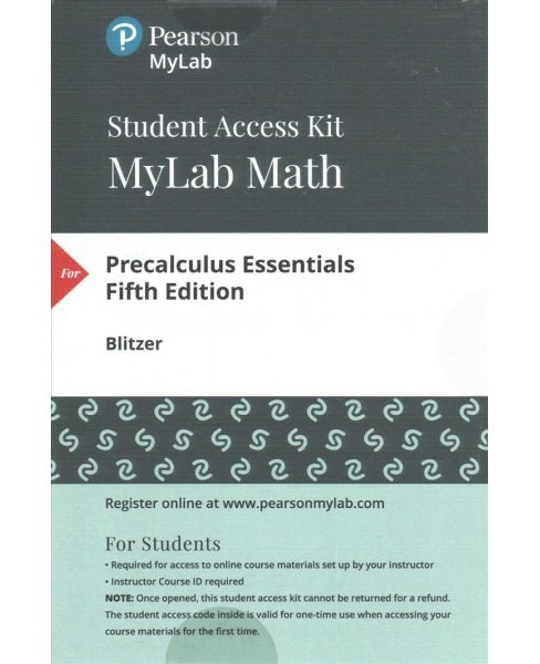 Mymathlab + Pearson Etext Standalone Access Card for Precalculus Essentials (Hardcover) (Robert F. - image 1 of 1