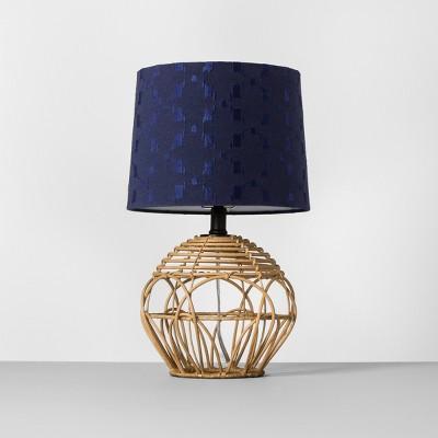 Rattan Table Lamp Shade Navy Includes Energy Efficient Light Bulb - Opalhouse™