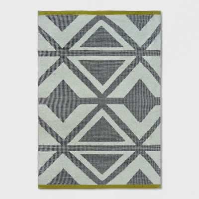 Black/Chevron/Yellow Bordered Woven Area Rug - Project 62™
