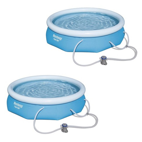 "Bestway 10' X 30"" Fast Set Inflatable Above Ground Swimming Pool & Pump (2 Pack) - image 1 of 6"