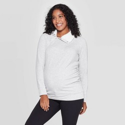Maternity Long Sleeve Sherpa Sweatshirt - Isabel Maternity by Ingrid & Isabel™