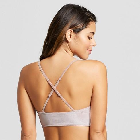652073490eb Women s Velvet Long Line Bralette - Xhilaration™   Target