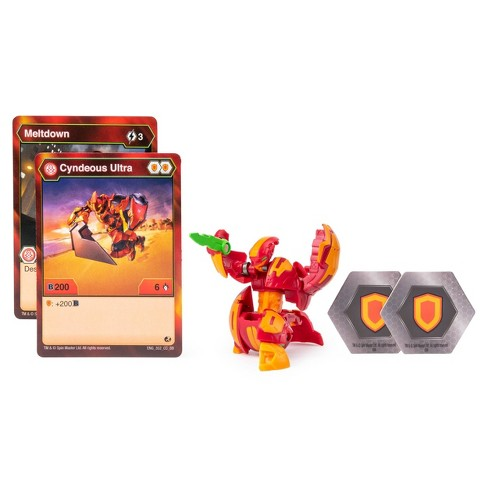 "Bakugan Ultra Pyrus Cyndeous 3"" Collectible Action Figure and Trading Card - image 1 of 4"
