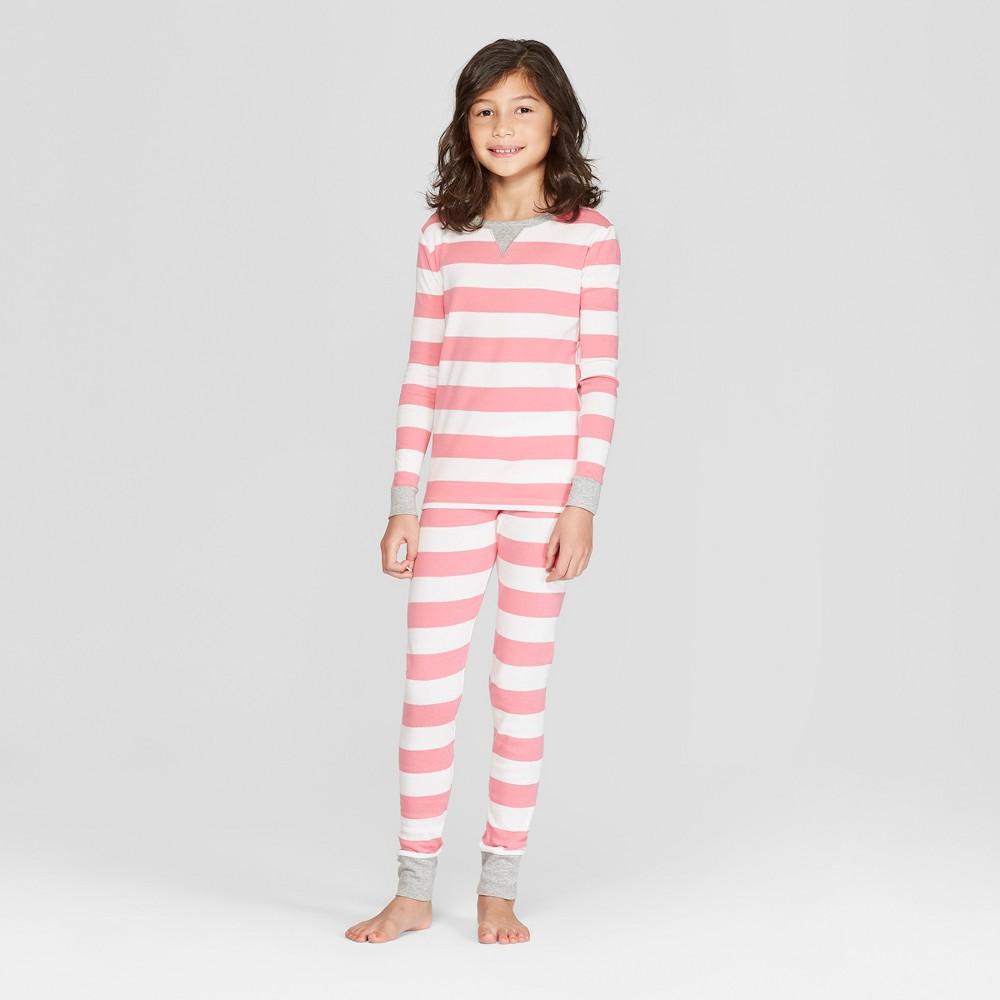 Kid's Striped Pajama Set - Pink 10, Kids Unisex