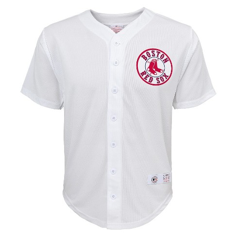 Boston Red Sox Boys' Dustin Pedroia Jersey White - image 1 of 2