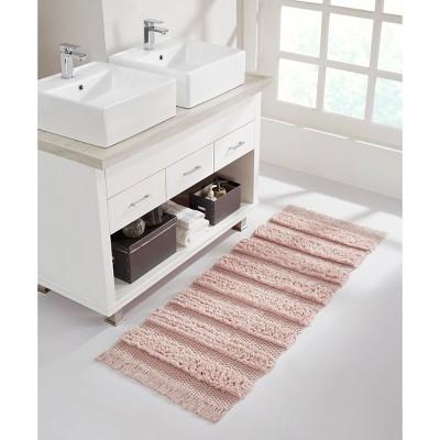 Savannah Cotton Fringe Bath Runner Pink - VCNY