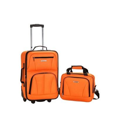 Rockland Fashion 2pc Luggage Set - Orange