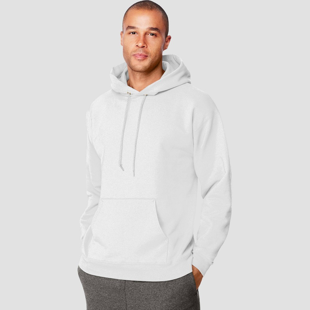 Hanes Men S Ultimate Cotton Pullover Hooded Sweatshirt White Xl