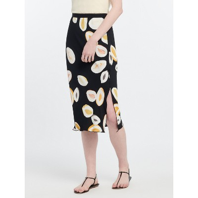 NIC+ZOE Women's Lemon Squeeze Skirt Black Multi