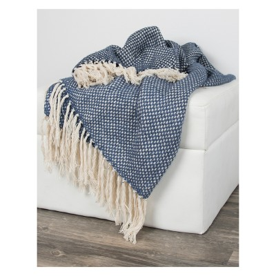 Throw Blankets 50 X60  Navy - Rizzy Home