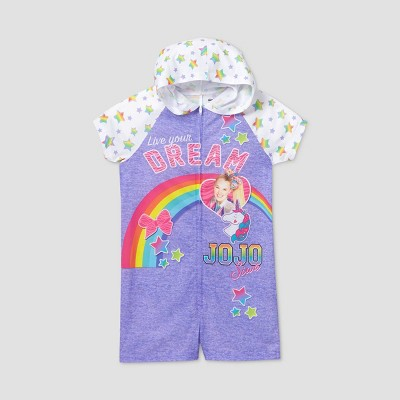 Girls' JoJo Siwa 'Live Your Dream' Pajama Romper - Purple