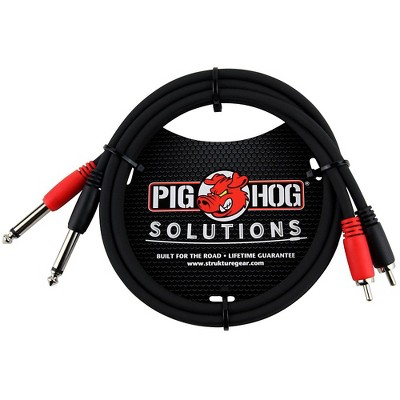 """Pig Hog Solutions Dual Cable RCA to 1/4"""" (3 ft.)"""