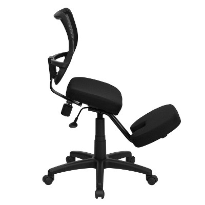 Ergonomic kneeling office chairs Portable Target Mobile Ergonomic Kneeling Task Chair Black Flash Furniture Target